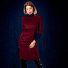 Amalthea dress tencel burgundy