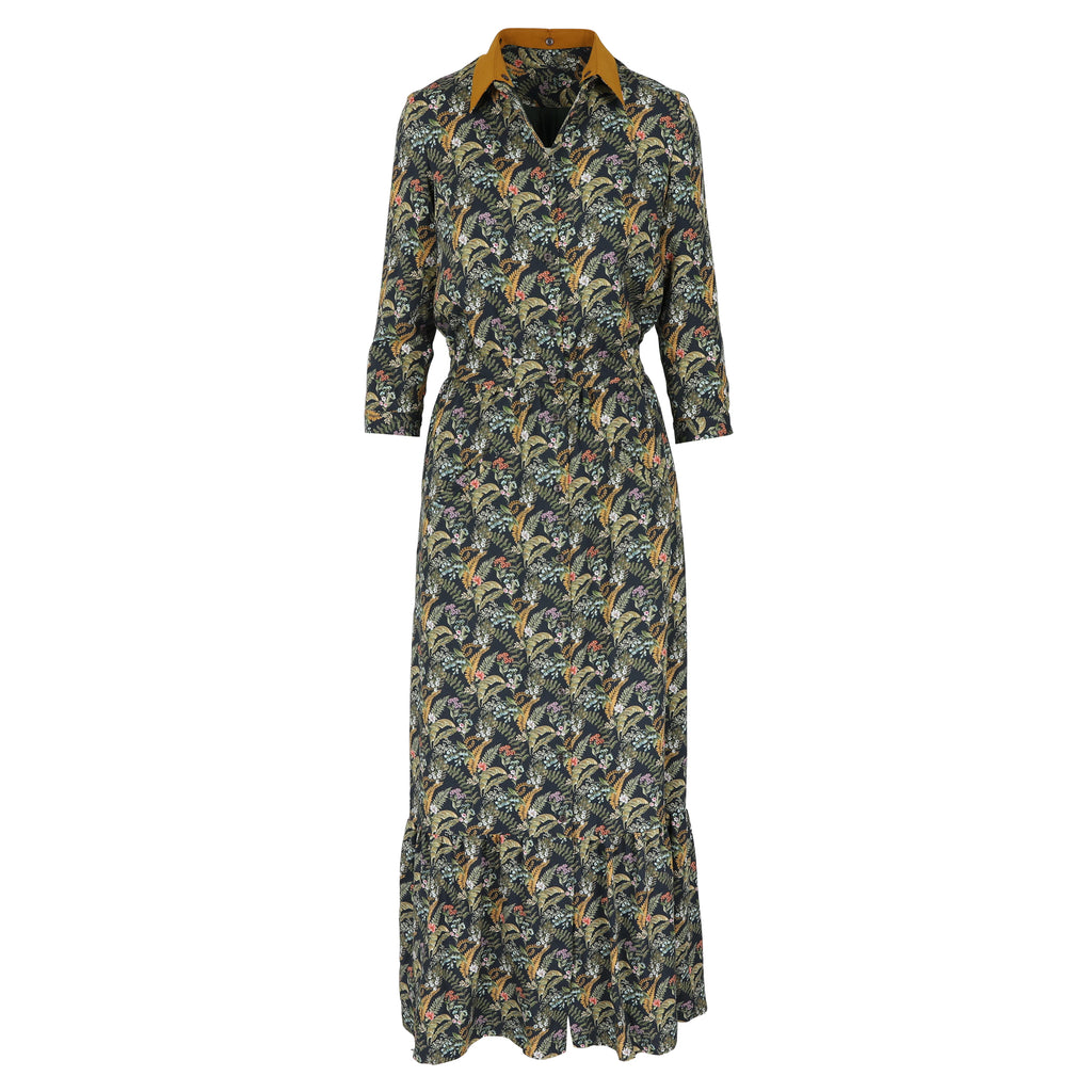 Josephine dress fall leaves