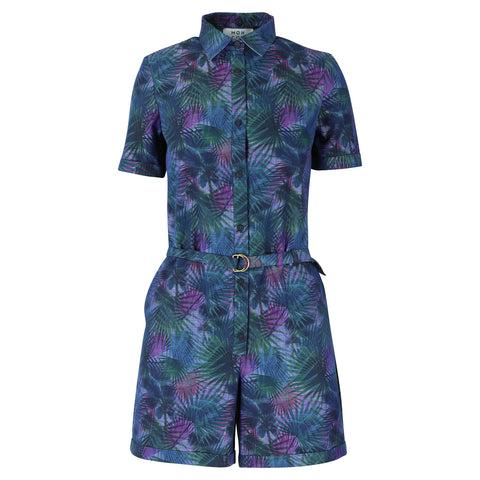 Girly blouse navy camouflage