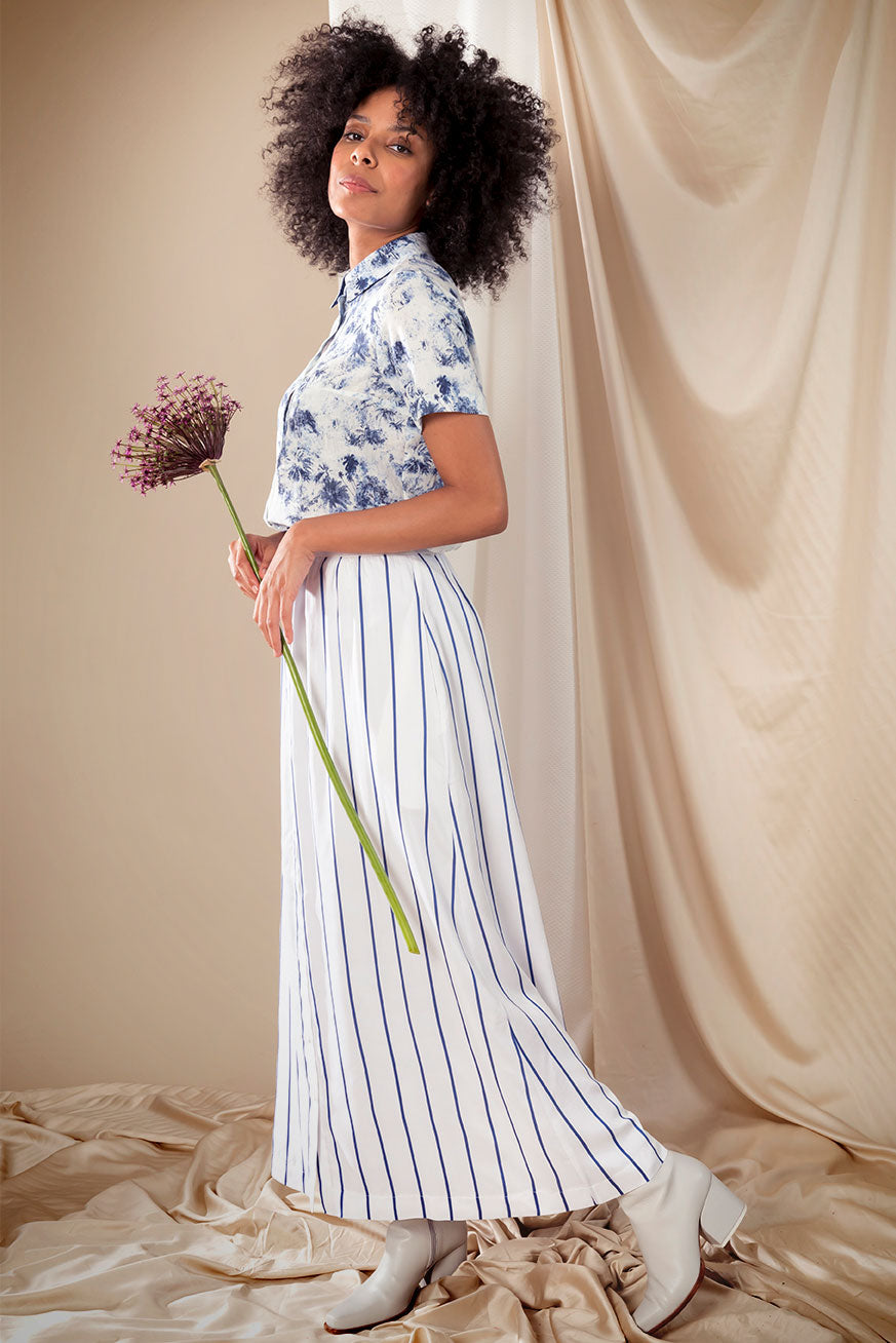Kreta skirt blue stripe