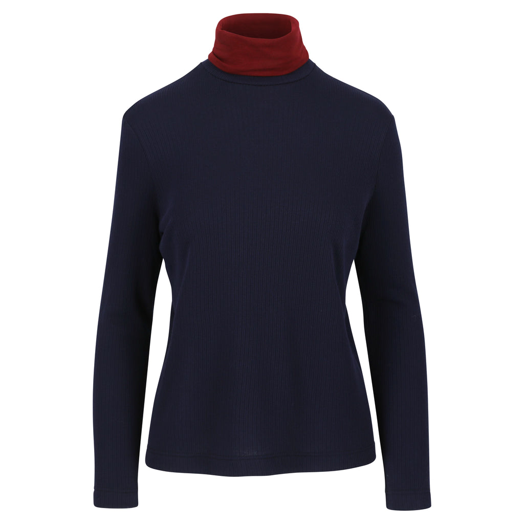 Cybele turtleneck navy / burgundy