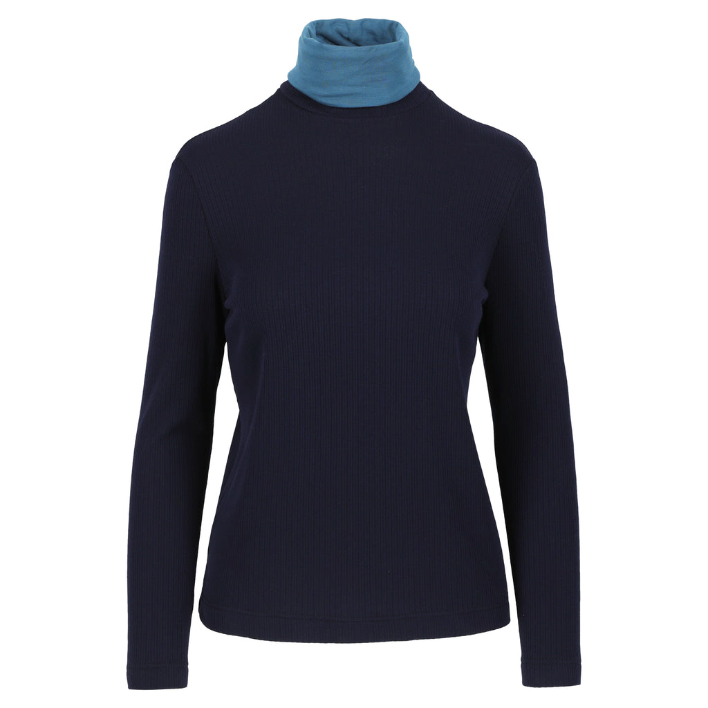 Cybele turtleneck navy / petrol