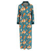 Fortuna dress petrol flower