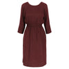 Ida dress tencel burgundy