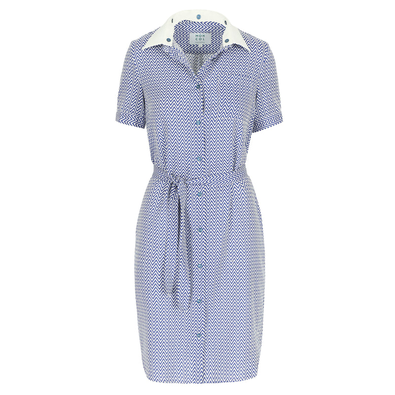 Echo dress zigzag blue