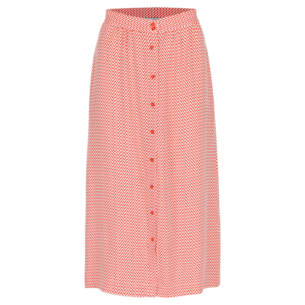 Elba skirt zigzag orange