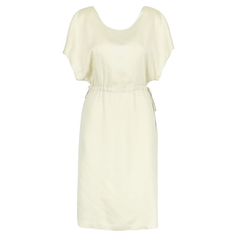 Twist dress cream