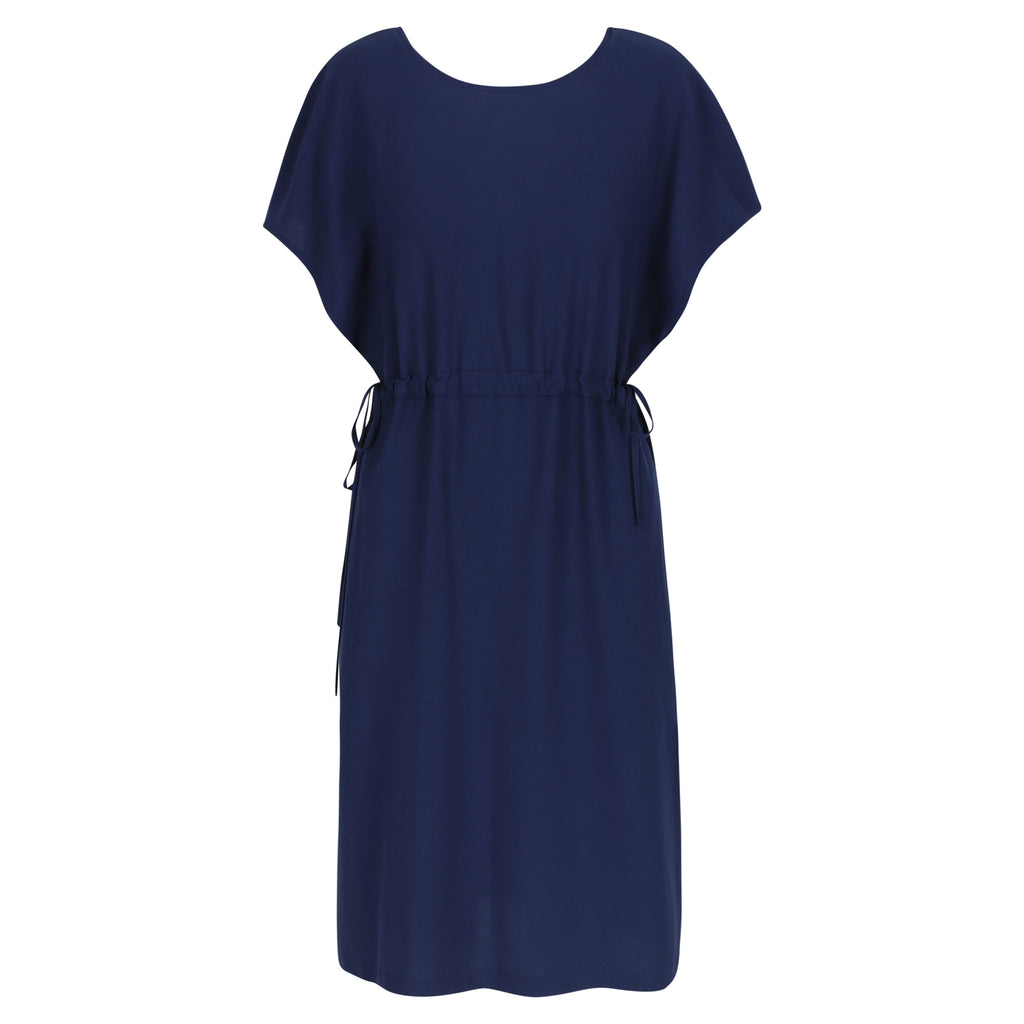 Twist dress navy