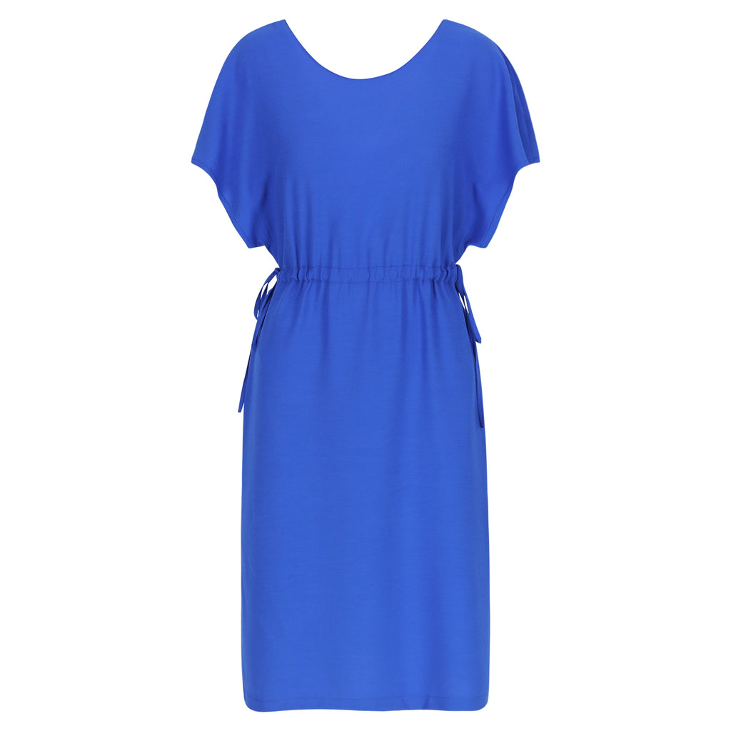 Twist dress royal blue
