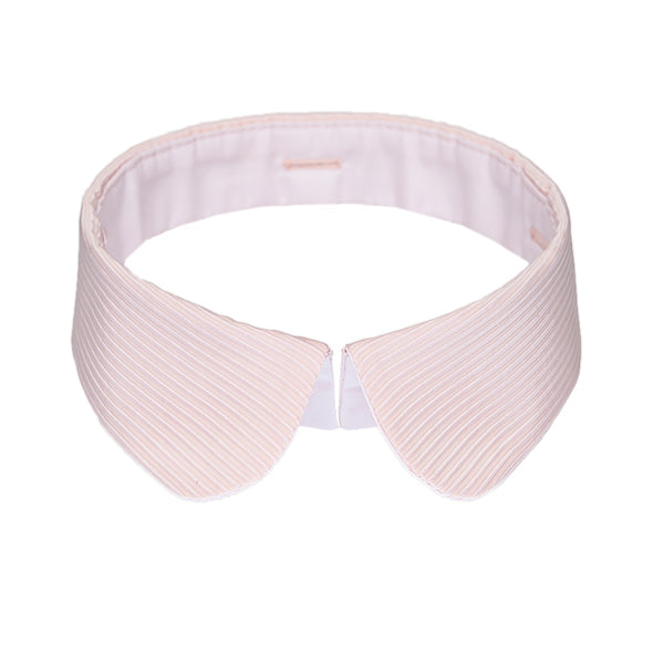 Peter Pan collar pink stripes