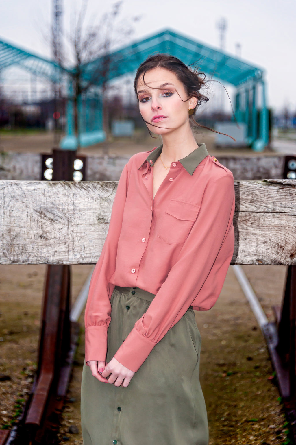 Polly Jean blouse pink