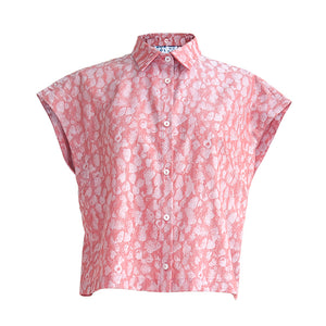 Short blouse Coral raspberries