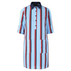 Venice dress red stripe