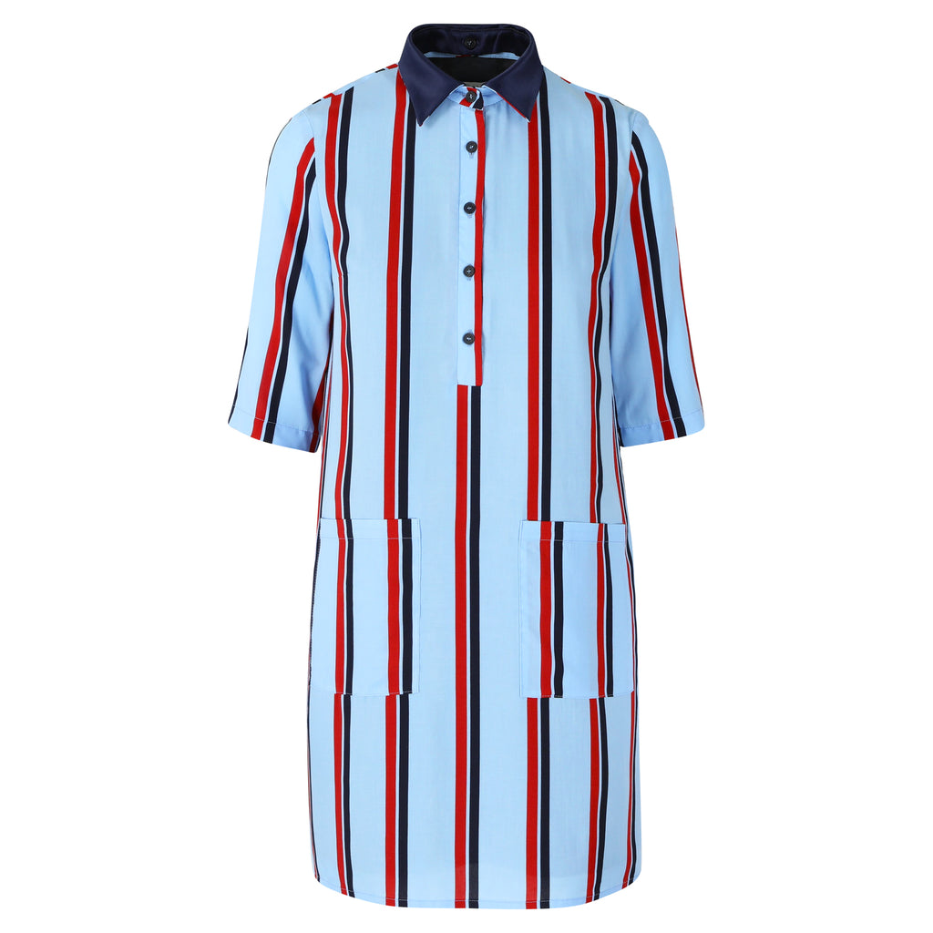Twiggy dress blue stripe