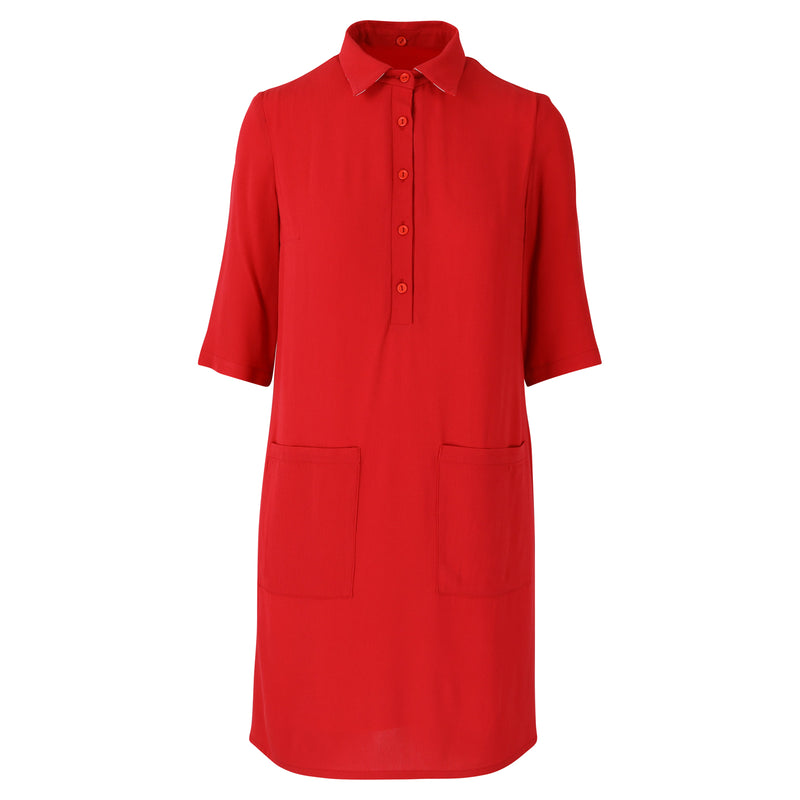 Twiggy dress red