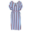 Twist dress blue stripe