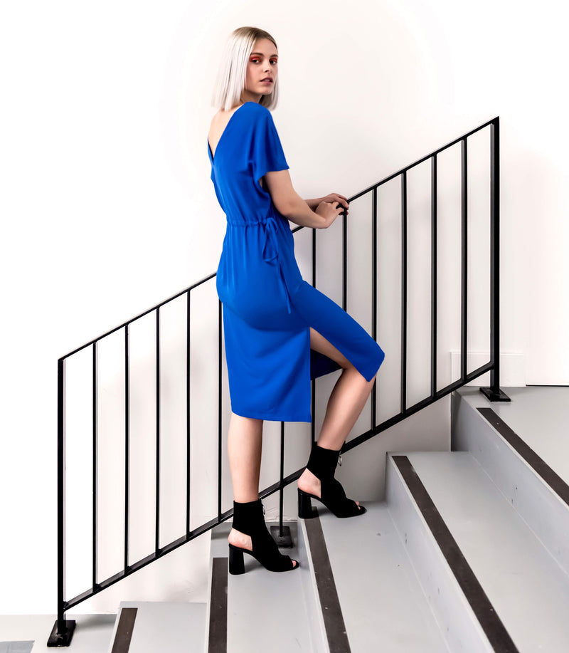Twist dress royal blue - Last Size: 34