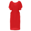 Twist dress red