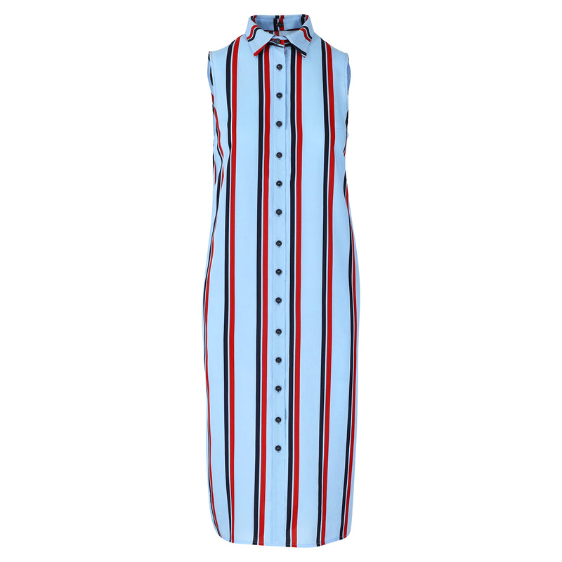 Venice dress blue stripe