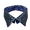 Peter Pan collar navy glitter