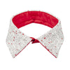 Peter pan collar white bows