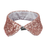 Peter Pan collar pink glitter