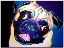 View Exclusive PUG Wall Art & Curtains