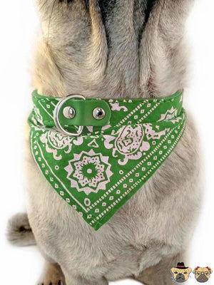 Bandanna For Dogs - Green Collars