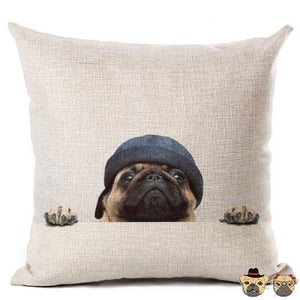 Beanie Pug Pillow Case Pillows