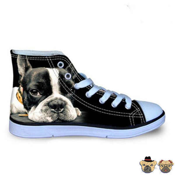 Boston Terrier High Sneakers 5 Shoes