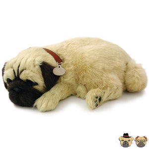 Breathing Pug Puppy Doll
