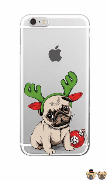 Christmas Deer Pug Phone Case Cases