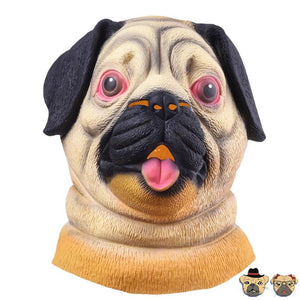 Comical Pug Party Mask Masks