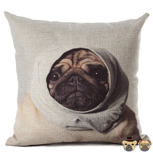 Confused Pug Pillow Case Pillows