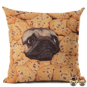 Cookie Pug Pillow Case Pillows