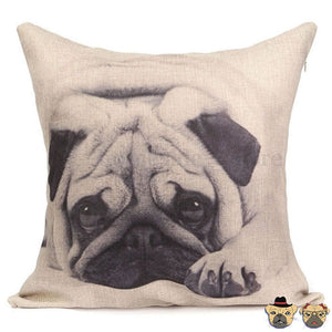 Cute Pug Pillow Case Pillows