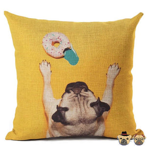 Disciplined Pug Pillow Case Pillows
