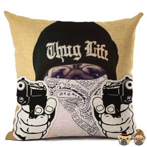 Gang Pug B Pillow Case Pillows