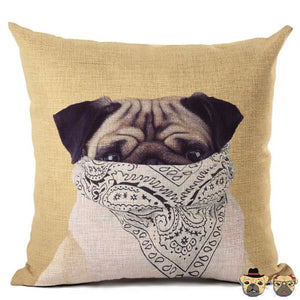 Gang Pug Pillow Case Pillows