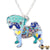 Gaudi Pug Necklace Blue & Azure Necklaces