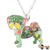 Gaudi Pug Necklace Green & Multicolor Necklaces