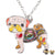 Gaudi Pug Necklace Light Rose & Multicolor Necklaces