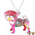 Gaudi Pug Necklace Red & Pink Necklaces