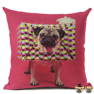 Gift Pug Pillow Case Pillows