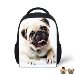 Happy Pug Backpack Bags