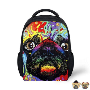 Hippie Pug Backpack Bags
