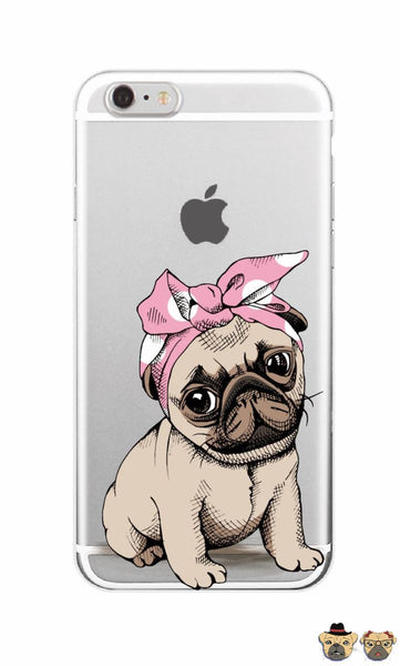 Lady Puppy Pug Phone Case Cases
