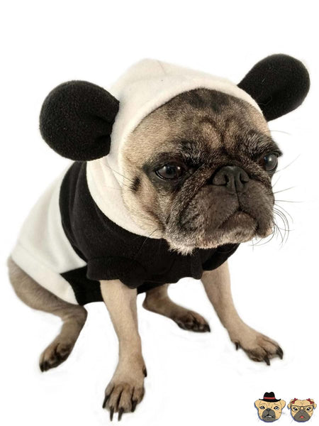 Panda Hoodie For Dogs Clothing