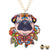 Paradise Pug Neckalce Brownish Necklaces