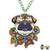 Paradise Pug Neckalce Green Necklaces